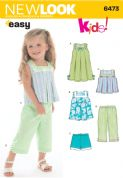 6473 New Look Pattern: Toddlers' Separates